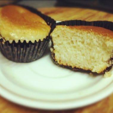Lychee muffins final Eggless Lychee Muffins
