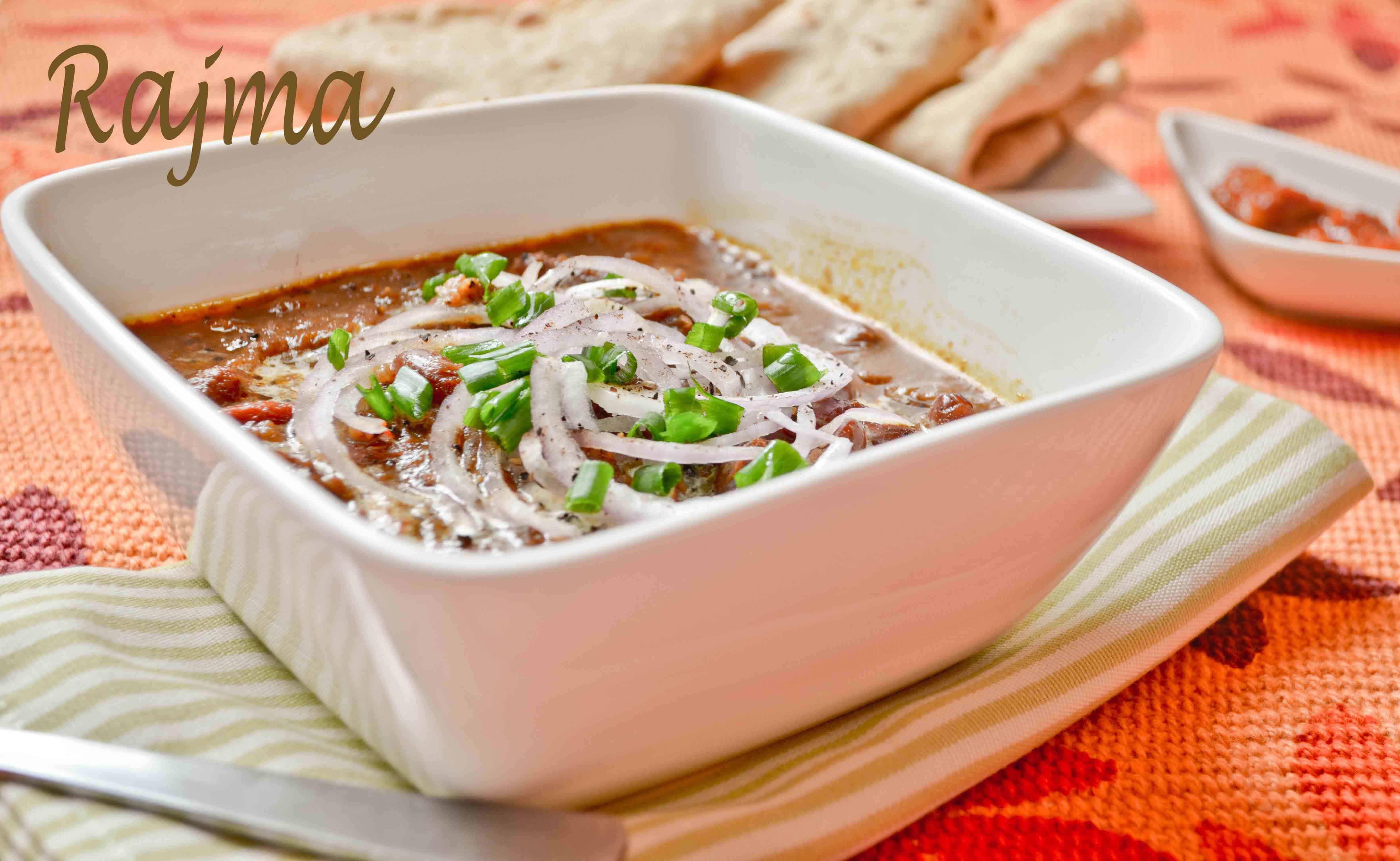 rajma banner Rajma - Red Kidney Beans Curry