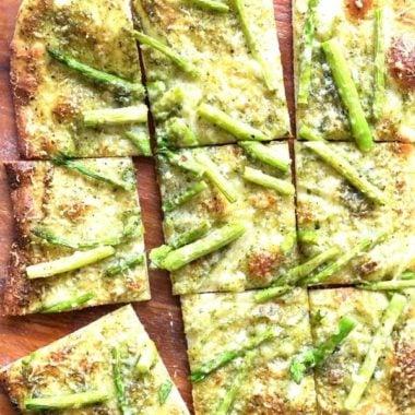 Pesto Asparagus Pizza