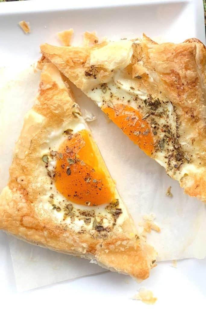 Egg Puff Pastry Breakfast Tart