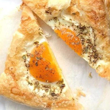 Egg Puff pastry tart